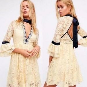 NWT Free People Gilded Ivory Lace Dress